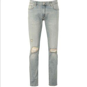 Men's REPRESENT Jeans Destroyer Knee Acid Blue 34